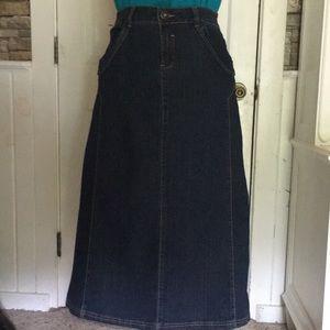 Cato long denim maxi skirt